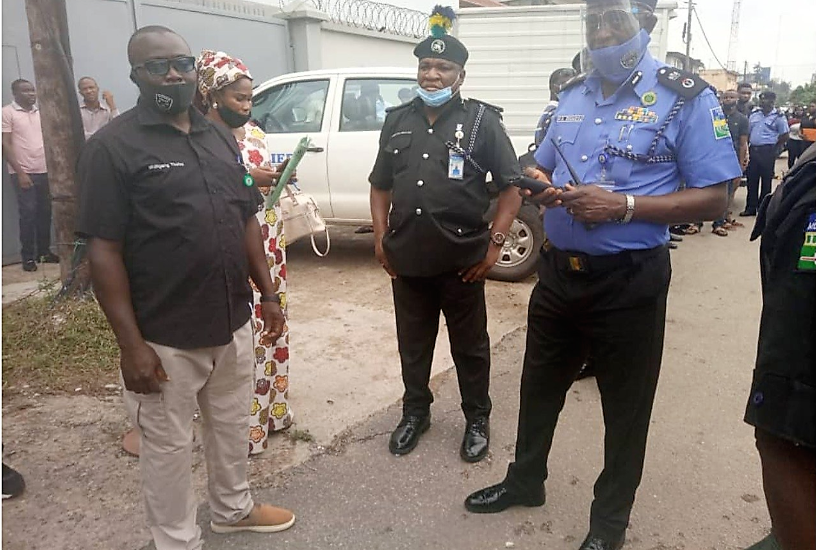 Lagos CP INSPECTS VENUE FOR THE ''Nigerian Police Regular Course 8 INTAKE EXAMINATION