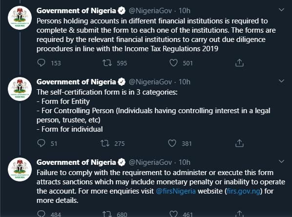 All Account Holders In NIGERIA TO RE-REGISTER THEIR DETAILS - FG