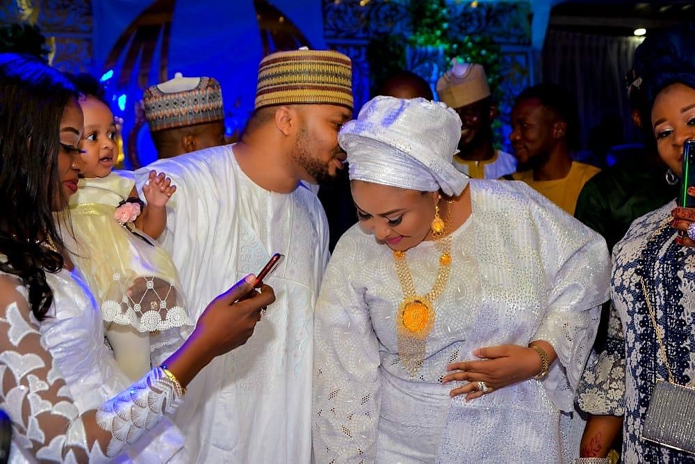 WIFE OF KOGI STATE GOVERNOR STEPS OUT IN STYLE AS BROTHERS WED.