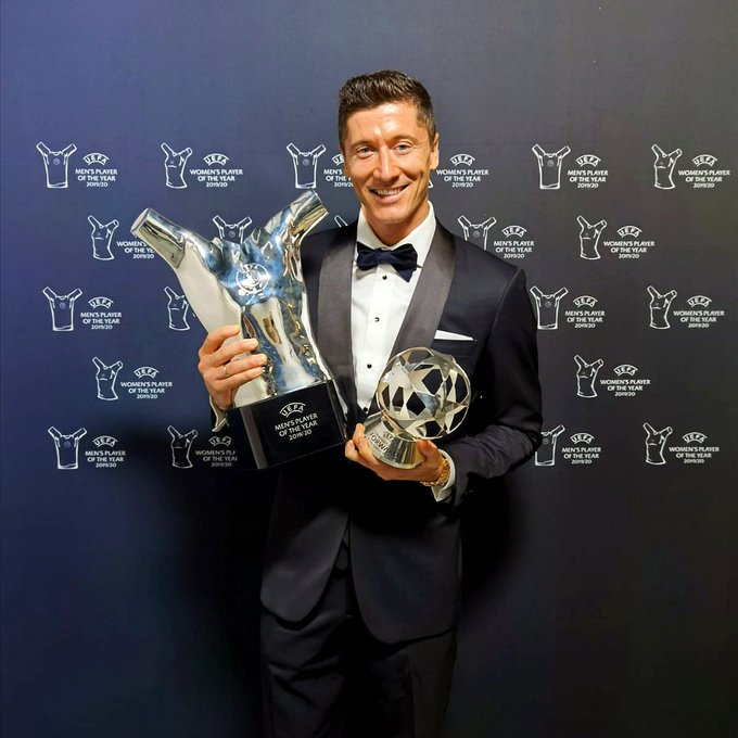 Robert Lewandowski Wins UEFA Men's PLAYER OF THE YEAR AWARD. See Full List