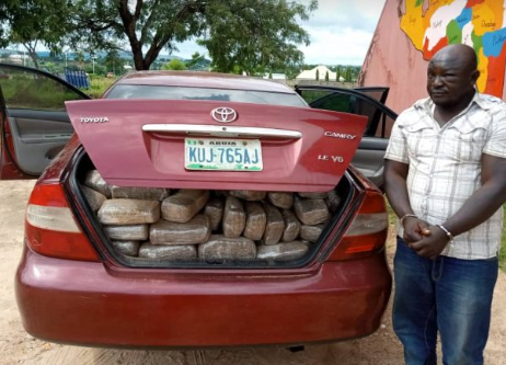 NDLEA : Dismissed Official ARRESTED WITH 254kg OF Cannabis Sativa